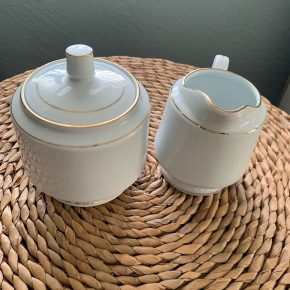 Vintage Other - Vintage Sugar Creamer Set White Fine China